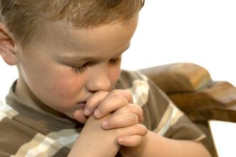 Simple steps for teaching your child to pray.
