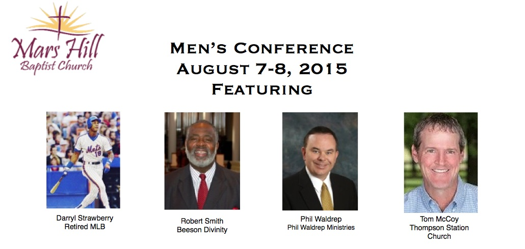 MENS CONFERENCE MAILER GRAPHIC